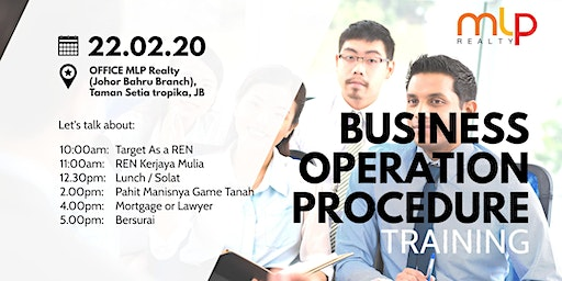 Business operation procedure (BOP TRAINING)