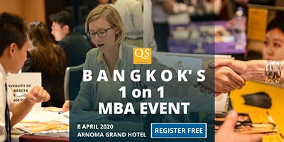 QS Bangkok MBA Event Free Entry - 1 on 1 MBA Meeti