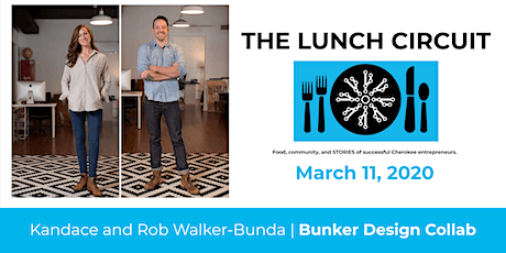 The Lunch Circuit: March 2020, Kandace and Rob Walker-Bunda tickets