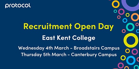 Recruitment Open Day - Further Education tickets