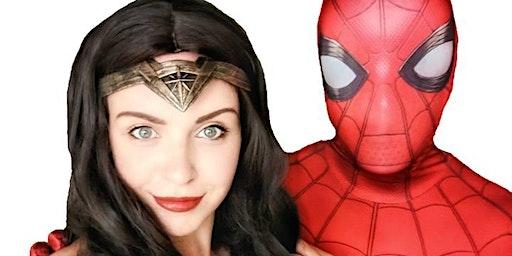 Superhero Lunch with Wonder Woman & Spiderman