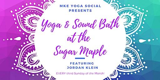 Gentle Restorative Yoga and Sound Bath at the Sugar Maple