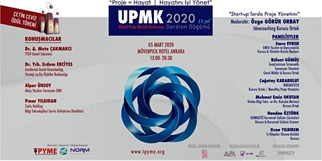 ULUSAL PROJE MESLEK KONFERANSI (UPMK) 2020 - Ücretlidir tickets