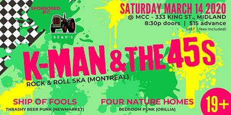 KMan and the 45s, Ship of Fools, Four Nature Homes tickets