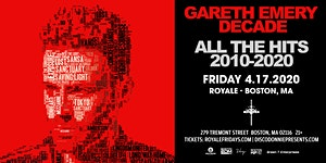 Gareth Emery at Royale   4.17.20   10:00 PM   21+