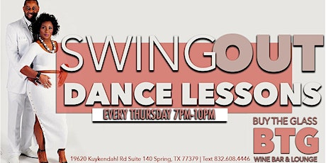Swing Out Dance Lessons & Wine | NW Houston tickets