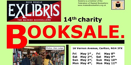 POSTPONED DUE TO VIRUS  14th ExLibris Masked Charity Booksale tickets