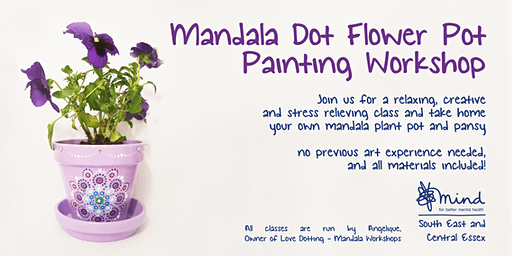 """Pot & Pansy"" Mandala Dot Painting Workshop with SECE Mind"