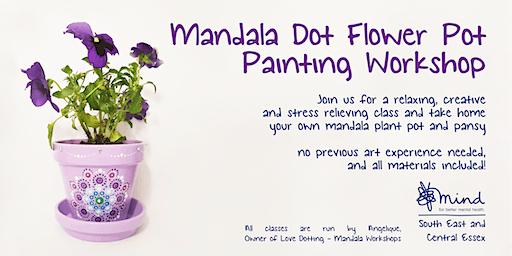 """Pot & Pansy"" Mandala Dot Painting Workshop with SECE Mind"