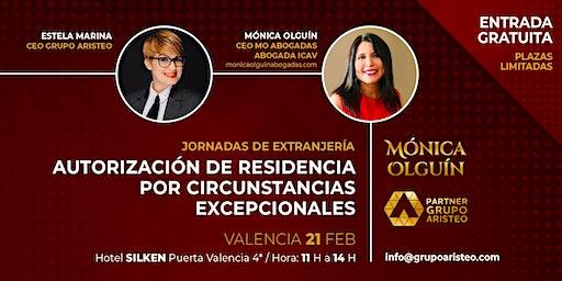 Jornadas de Extranjería con Mónica Olguín - Valencia. Partner Grupo Aristeo
