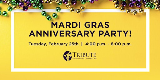 Mardi Gras Anniversary Party!