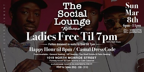 The Social Lounge / The Adult Experience tickets