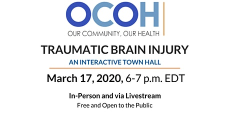 Our Community, Our Health: Traumatic Brain Injury tickets