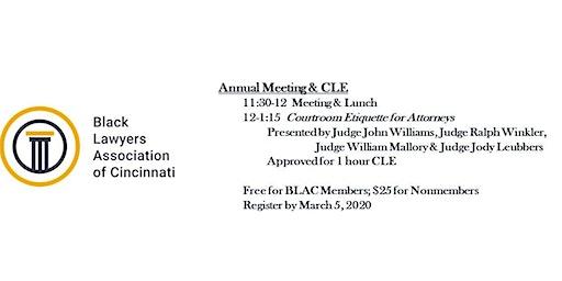BLAC Annual Meeting & CLE