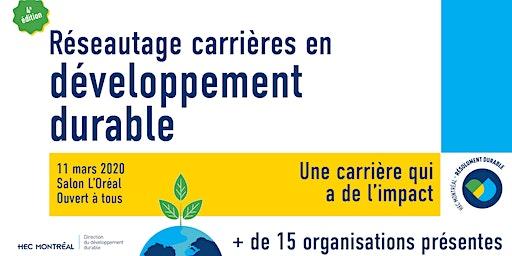 Réseautage carrières en développement durable - édition 2020