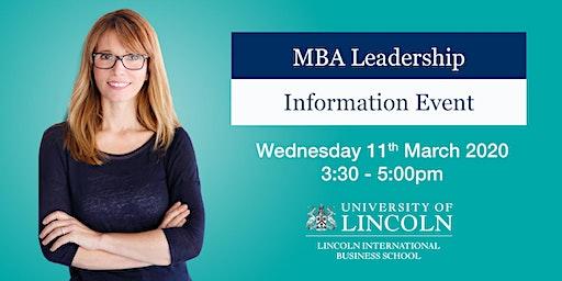 INFO EVENT: Senior Leaders Master's Degree Apprenticeship (MBA Leadership)