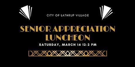 Lathrup Village Senior Appreciation Luncheon tickets