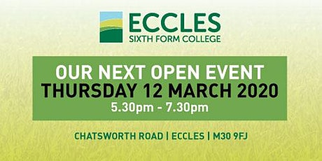 Eccles Sixth Form College Open Evening tickets