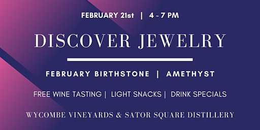 Discover Jewelry Series:  February Birthstone Happy Hour