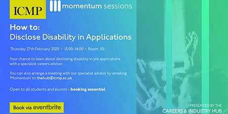 Disclosing Disability in Applications tickets
