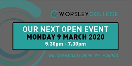 Worsley College Open Evening tickets