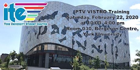 PTV VISTRO Training tickets