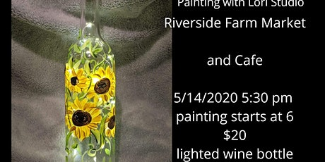 5/14 Paint and sip night - lighted wine bottle biglietti
