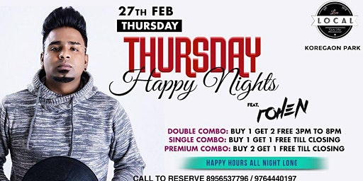 Thursday Happy Nights with Mic Raja DJ Rohen