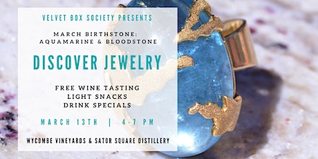 Discover Jewelry Series:  March Birthstone Happy Hour tickets