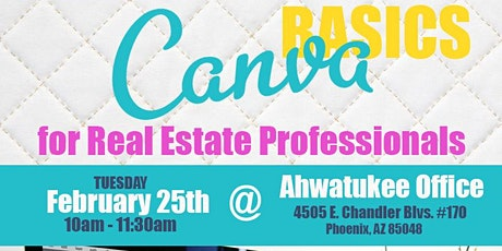 Canva Basics for Real Estate Professionals tickets