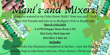 Mani's and Mixers with Gliztastic Nails by Sue tickets