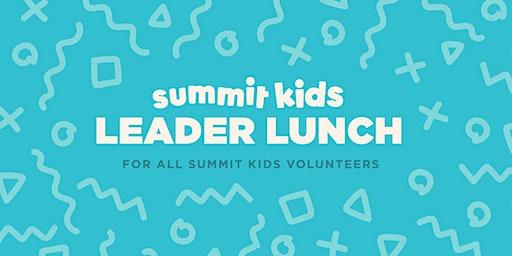 Summit Kids Leader Lunch Spring 2020