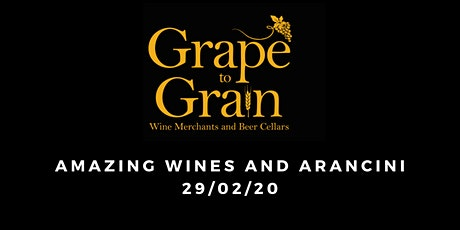 Amazing Wines and Arancini (Grape to Grain Ramsbottom) tickets