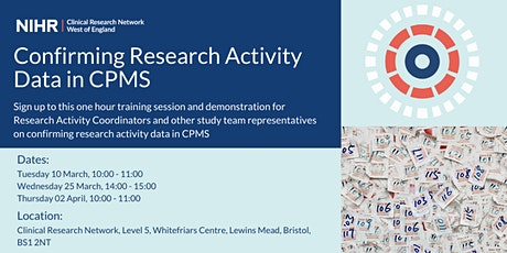 Confirming Research Activity Data in CPMS tickets