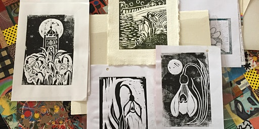Lino Printing and cutting workshop