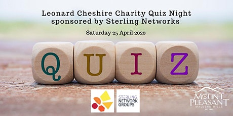 Leonard Cheshire Charity Quiz Night sponsored by Sterling Networks tickets
