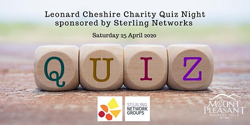 Leonard Cheshire Charity Quiz Night sponsored by Sterling Networks