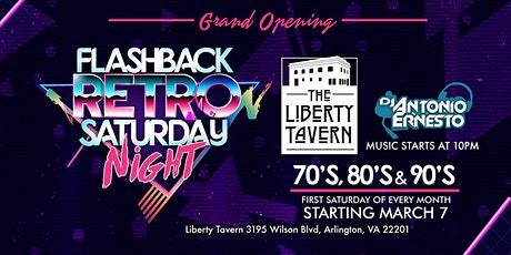 Flashback Retro Saturday's at Liberty Tavern tickets