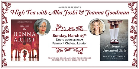 #HarperPresents: High Tea with Alka Joshi and Joanna Goodman tickets