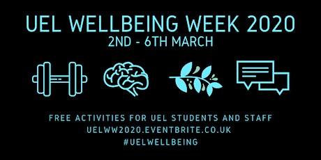 UEL Wellbeing Week 2020 tickets