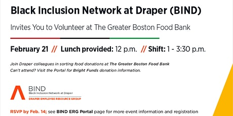 BIND Volunteer Event at The Greater Boston Food Bank tickets