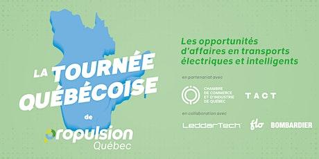 Tournée québécoise de Propulsion Québec  Québec billets