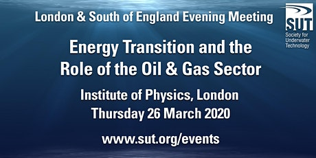 London & South of England Evening Meeting – Energy Transition and the Role tickets