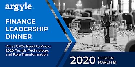 CFO Leadership Dinner - Boston tickets