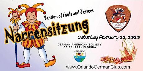 Narrensitzung Mardi Gras 2020 tickets