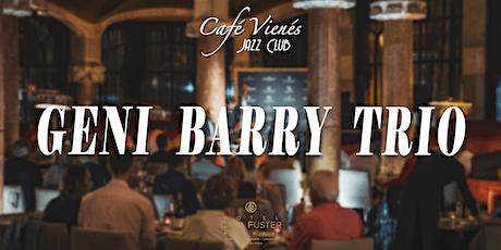 Música Jazz en directo: GENI BARRY TRIO entradas