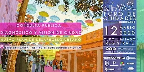 Foro de Ciudades - Consulta Pública: DIAGNÓSTICO Y VISIÓN DE CIUDAD entradas