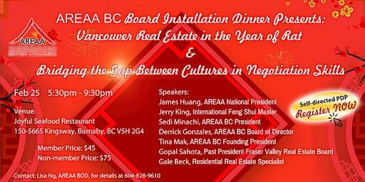 2020 AREAA BC Board Installation Dinner