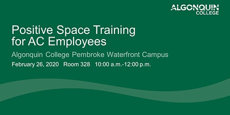 Positive Space Training for AC Employees tickets