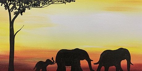 Paint Night at the Coachman - Elephants at Sunset tickets